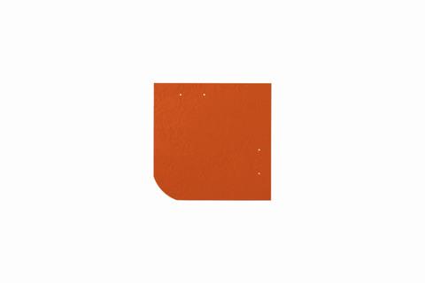 Eternit Dachplatte 20x20cm universal Wabe 4-11 glatt NC Quadrat mit gerundeter Ecke gelocht Klassikrot