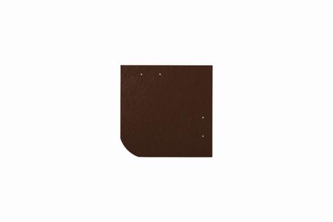 Eternit Dachplatte 20x20cm universal Wabe 4-11 glatt NC Quadrat mit gerundeter Ecke gelocht Dunkelbraun