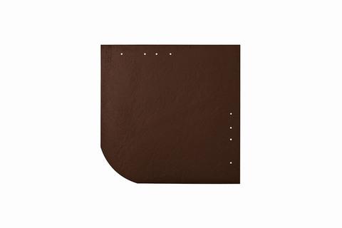 Eternit Dachplatte 30x30cm universal Wabe 4-11 glatt NC Quadrat mit gerundeter Ecke gelocht Dunkelbraun
