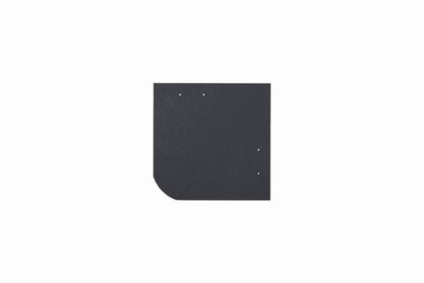 Eternit Dachplatte 20x20cm universal Wabe 4-11 glatt NC Quadrat mit gerundeter Ecke gelocht Blauschwarz