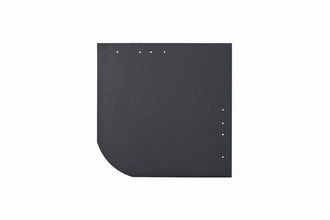 Eternit Dachplatte 30x30cm universal Wabe 4-11 glatt NC Quadrat mit gerundeter Ecke gelocht Blauschwarz