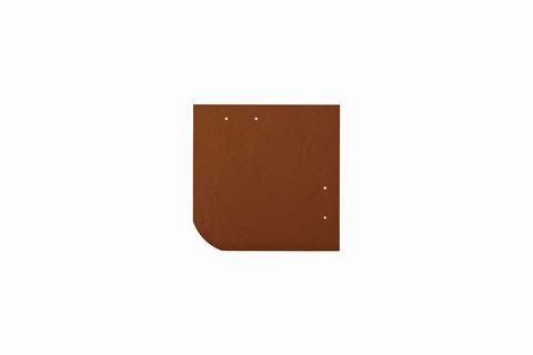 Eternit Dachplatte 20x20cm universal Wabe 4-11 glatt NC Quadrat mit gerundeter Ecke gelocht Ziegelrot