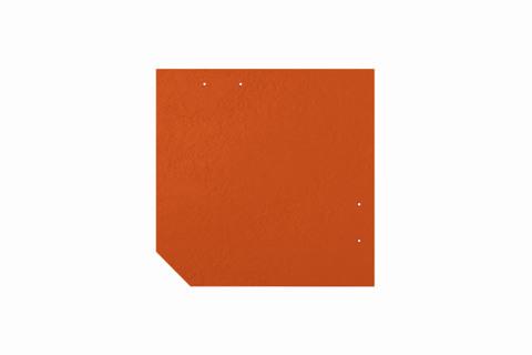 Eternit Dachplatte 30x30cm geschlossen Wabe 4 Großpaket glatt NC Quadrat mit 1 gestanzten Ecke gelocht Klassikrot