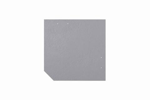 Eternit Dachplatte 30x30cm geschlossen Wabe 4 Großpaket glatt NC Quadrat mit 1 gestanzten Ecke gelocht Lichtgrau