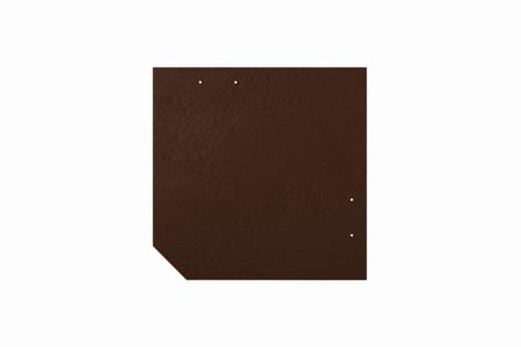 Eternit Dachplatte 30x30cm geschlossen Wabe 4 Großpaket glatt NC Quadrat mit 1 gestanzten Ecke gelocht Dunkelbraun