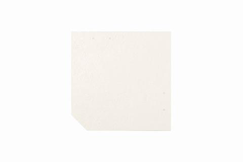 Eternit Dachplatte 30x30cm geschlossen Wabe 4 Großpaket glatt NC Quadrat mit 1 gestanzten Ecke gelocht Kristallweiß