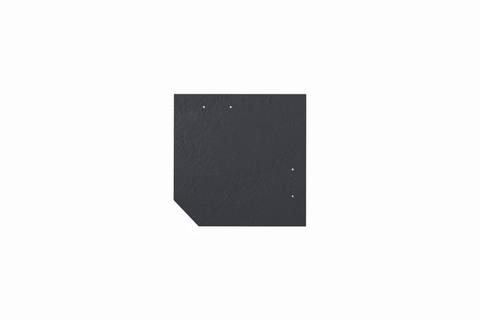 Eternit Dachplatte 20x20cm geschlossen Wabe 3 Kleinpaket glatt NC Quadrat mit 1 gestanzten Ecke gelocht Blauschwarz