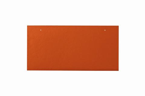 Eternit Dachplatte 40x20cm waagerecht 4/4 Großpaket glatt NC Rechteckig für Links-/Rechtsdeckung 2 Loch Klassikrot