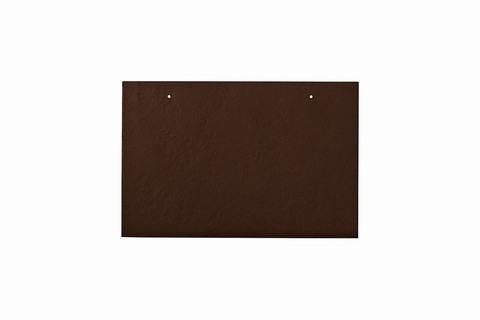 Eternit Dachplatte 30x20cm waagerecht 4/5 Großpaket glatt NC Rechteckig für Links-/Rechtsdeckung 2 Loch Dunkelbraun