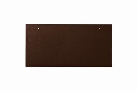 Eternit Dachplatte 40x20cm waagerecht 4/4 Großpaket glatt NC Rechteckig für Links-/Rechtsdeckung 2 Loch Dunkelbraun