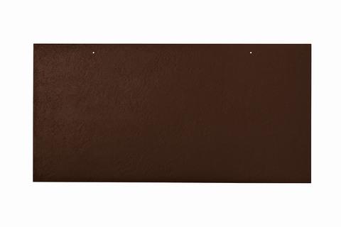 Eternit Dachplatte 60x30cm waagerecht 4-12 Großpaket glatt NC Rechteckig für Links-/Rechtsdeckung 2 Loch Dunkelbraun