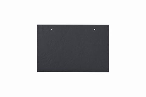 Eternit Dachplatte 30x20cm waagerecht 4/5 Großpaket glatt NC Rechteckig für Links-/Rechtsdeckung 2 Loch Blauschwarz