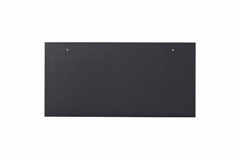 Eternit Dachplatte 40x20cm waagerecht 4/4 Großpaket glatt NC Rechteckig für Links-/Rechtsdeckung 2 Loch Blauschwarz