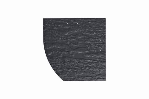 Eternit Dachplatte 25x25cm Deutsche Deckung Bogen links 5-10 Struktur NC Quadrat mit Bogenschnitt links Blauschwarz