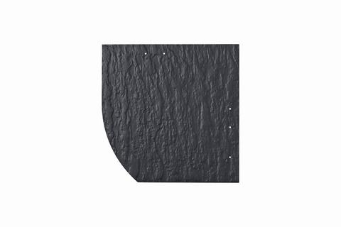 Eternit Dachplatte 30x30cm Deutsche Deckung Bogen links 5-11 Struktur NC Quadrat mit Bogenschnitt links Blauschwarz