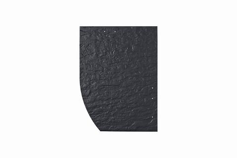Eternit Dachplatte 30x40cm Deutsche Deckung Bogen links 5-12 Struktur NC Rechtecker mit Bogenschnitt links Blauschwarz