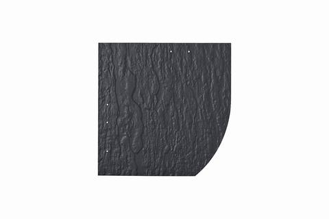 Eternit Dachplatte 30x30cm Deutsche Deckung Bogen rechts 5-11 Struktur NC Quadrat mit Bogenschnitt rechts Blauschwarz