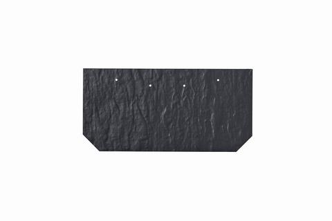 Eternit Dachplatte 30x15cm First- und Gratplatte Struktur NC mit gestanzten Ecken gelocht Blauschwarz