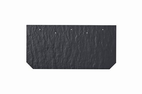 Eternit Dachplatte 40x20cm First- und Gratplatte Struktur NC mit gestanzten Ecken gelocht Blauschwarz