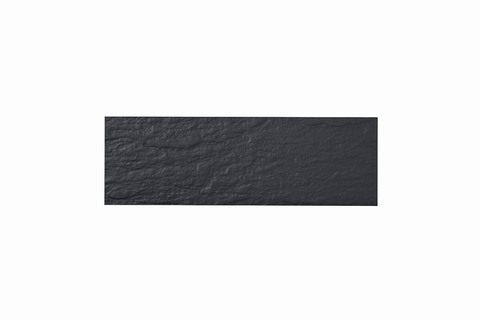 Eternit Dachplatte 40x13cm Fuß- und Kehlplatte Struktur NC vollkantig ungelocht Blauschwarz