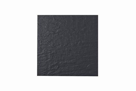 Eternit Dachplatte 40x40cm Fuß- und Kehlplatte Struktur NC vollkantig ungelocht Blauschwarz
