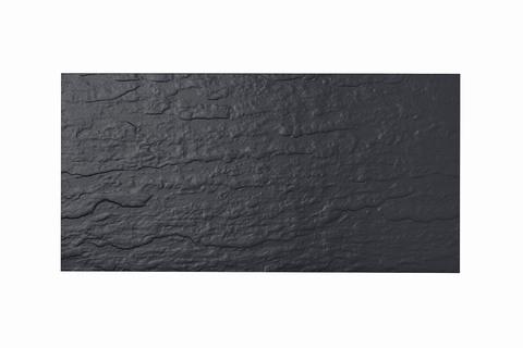 Eternit Dachplatte 50x25cm Ortplatte Struktur NC vollkantig ungelocht Blauschwarz