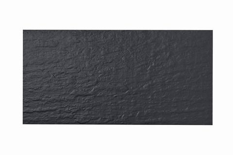 Eternit Dachplatte 60x30cm Fuß- und Kehlplatte Struktur NC vollkantig ungelocht Blauschwarz