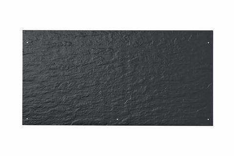 Eternit Dachplatte 60x30cm vertieft Quaderdeckung Struktur NC 5 Loch Blauschwarz