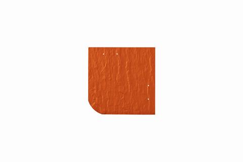 Eternit Dachplatte 20x20cm universal Wabe 4-11 Struktur NC Quadrat mit gerundeter Ecke gelocht Klassikrot