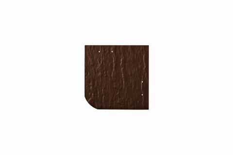 Eternit Dachplatte 20x20cm universal Wabe 4-11 Struktur NC Quadrat mit gerundeter Ecke gelocht Dunkelbraun
