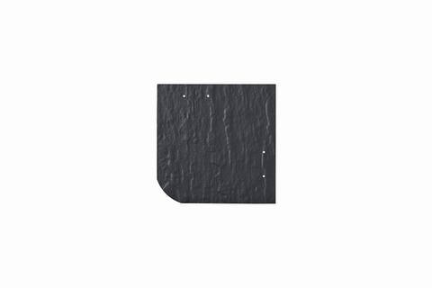 Eternit Dachplatte 20x20cm universal Wabe 4-11 Struktur NC Quadrat mit gerundeter Ecke gelocht Blauschwarz