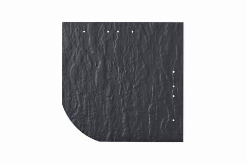 Eternit Dachplatte 25x25cm universal Wabe 4-11 Struktur NC Quadrat mit gerundeter Ecke gelocht Blauschwarz