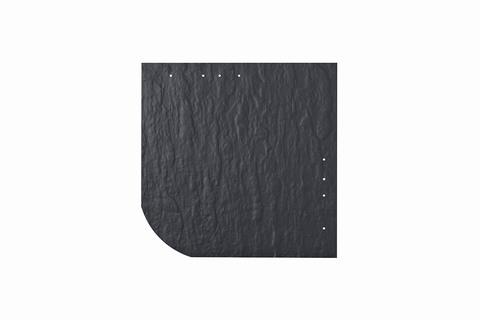 Eternit Dachplatte 30x30cm universal Wabe 4-11 Struktur NC Quadrat mit gerundeter Ecke gelocht Blauschwarz