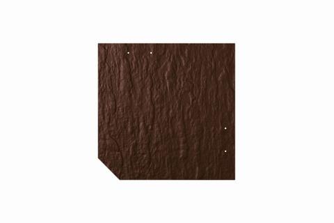 Eternit Dachplatte 30x30cm geschlossen Wabe 4 Großpaket Struktur NC Quadrat mit 1 gestanzten Ecke gelocht Dunkelbraun
