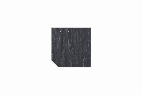 Eternit Dachplatte 20x20cm geschlossen Wabe 3 Kleinpaket Struktur NC Quadrat mit 1 gestanzten Ecke gelocht Blauschwarz