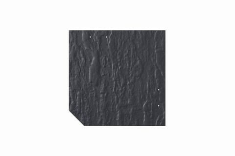Eternit Dachplatte 30x30cm geschlossen Wabe 4 Großpaket Struktur NC Quadrat mit 1 gestanzten Ecke gelocht Blauschwarz
