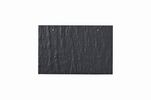Eternit Dachplatte 30x20cm waagerecht 4/5 Großpaket Struktur NC Rechteckig für Links-/Rechtsdeckung 2 Loch Blauschwarz