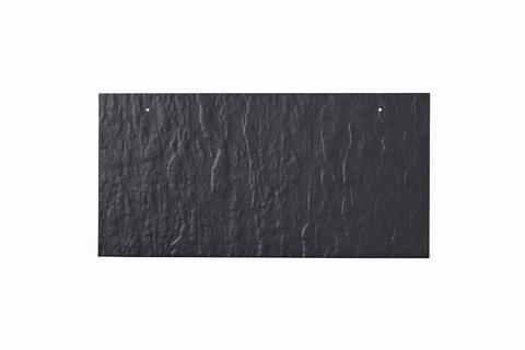Eternit Dachplatte 40x20cm waagerecht 4/4 Großpaket Struktur NC Rechteckig für Links-/Rechtsdeckung 2 Loch Blauschwarz