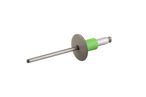Etex Uni-Niet V2A 4x20mm D8 100 Stück im Paket 15mm Kopf Sonderfarbe
