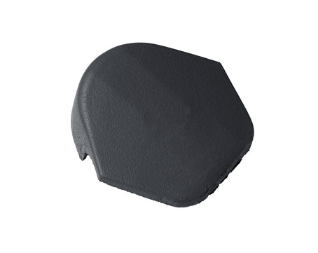 Braas Firstendstein matt mit Klammer Granit