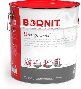 Bornit Bitugrund 25,0l Voranstrich schnelltrocknend für Beton- und Mauerwerksflächen Schwarz
