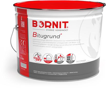 Bornit Bitugrund 5,0l Voranstrich schnelltrocknend für Beton- und Mauerwerksflächen Schwarz