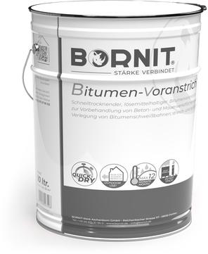 Bornit Bitugrund 10,0 l Voranstrich für Beton- und Mauerwerksflächen Schwarz
