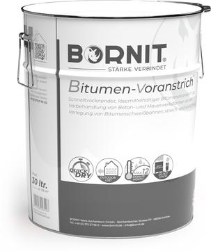 Bornit Bitugrund 30,0 L Voranstrich für Beton- und Mauerwerksflächen Schwarz