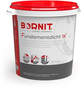 Bornit Fundamentdicht 1k 32 l Bitumendickbeschichtung 1-komponentig Bitumen