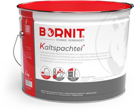 Bornit Kaltspachtel für Flächen- und Anschlussabdichtungen Schwarz