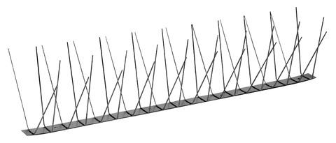 PPS Birdy-Spitzen Basic 4-fach 0,500 m 60 Stück komplett aus Edelstahl Edelstahl DIN 1.4301