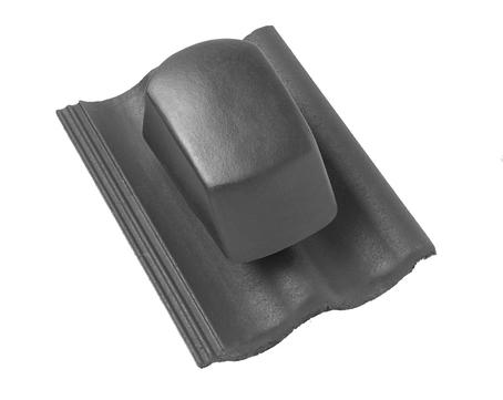 Braas DuroVent Premium Sanilüfter geschlossen Harzer Pfanne 10 matt Star Granit