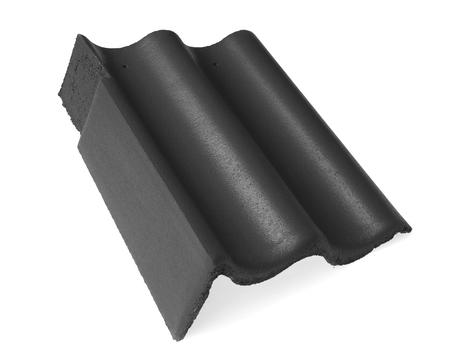 Braas Harzer 7 Giebel links 110 mm matt Novo Granit