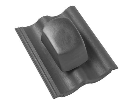 Braas DuroVent Premium Sanilüfter geschlossen matt Novo für Harzer Pfanne 7 Granit